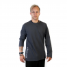 "Shirts ""Long Sleeve Earth Grey Side Logo"""