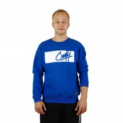 "Hoody ""Crewneck in Deep Blue"