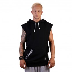 "Jumper ""Sleeveless Hoodie Solid Black"""