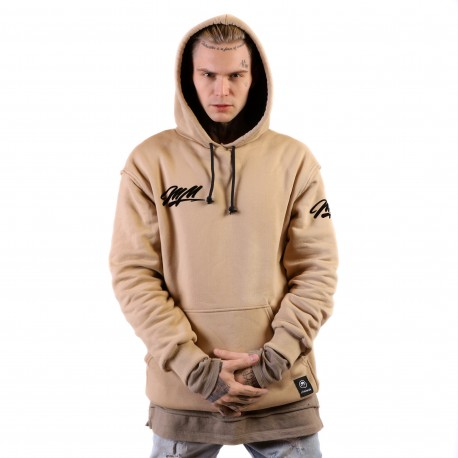 "Džemperis ""Hoodie MadMoney Sand Brown"""